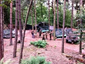 Ook het Schotse geallieerde kampement werd geloofwaardig gerealiseerd.